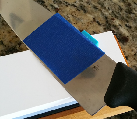 Protect knives with Painters Blue Tape